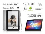 Обзор DF Sunrise-01. Тест 12 дюймового планшета, с 4-ядрами и Google Android 4.2